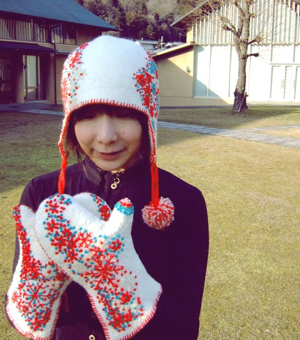 Yuki hat and gloves