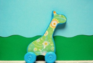 giraffe pull toy